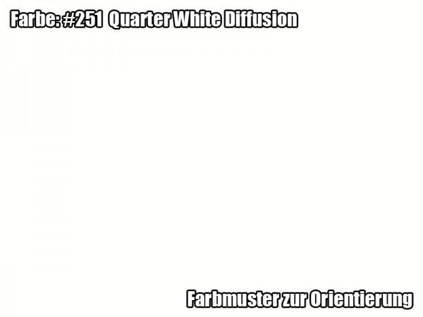 Rosco Farbfolie - Quarter White Diffusion #251