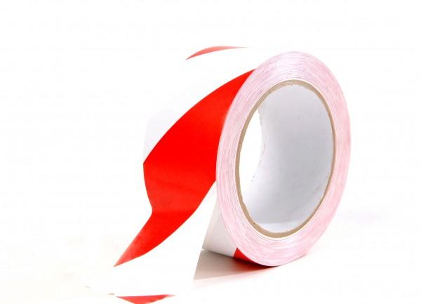 Warnband - Weich-PVC 50mm x 33m Rot/Weiß