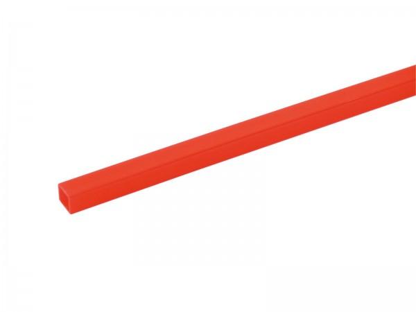 Leer-Rohr, 10x10mm, rot UV-aktiv, 4m