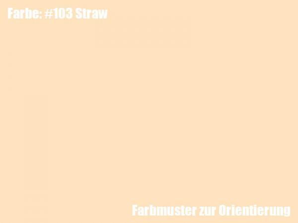 Rosco Farbfolie -Straw #103