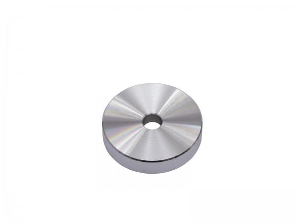 Puck Single-Mittelstück Aluminium silber
