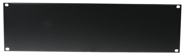 Frontplatte Z-19 U, Stahl, schwarz 3HE