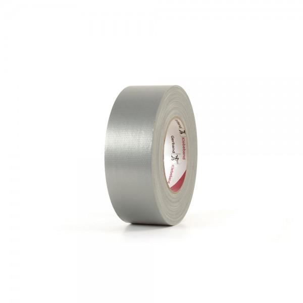 Gerband Gewebe-Klebeband silber, glänzend 50mm x 50m