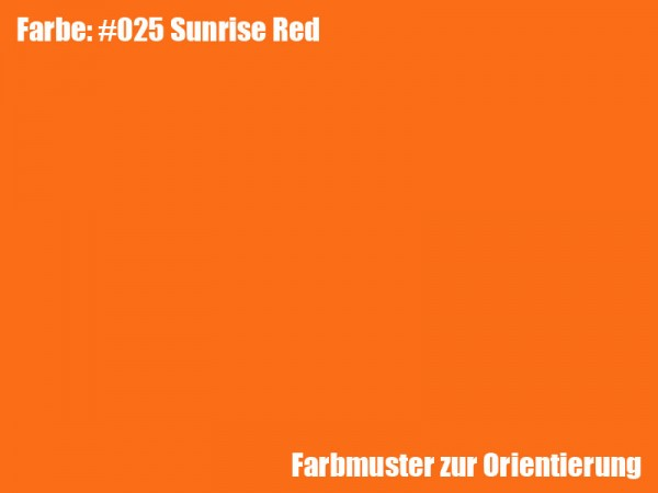 Rosco Farbfolie -Sunrise Red #025