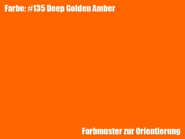 Rosco Farbfolie -Deep Golden Amber #135
