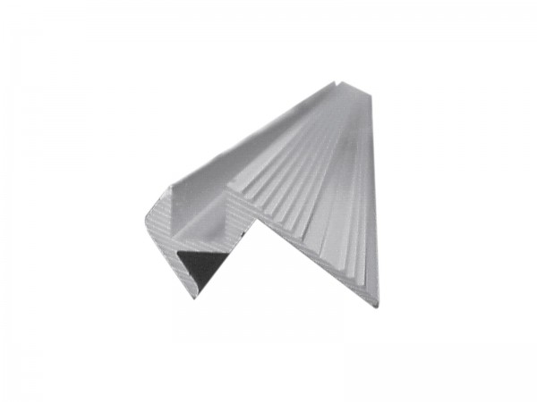 Treppenstufenprofil, 10x10mm, alu, 2m