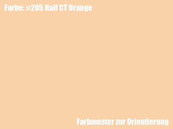 Rosco Farbfolie -Half CT Orange #205