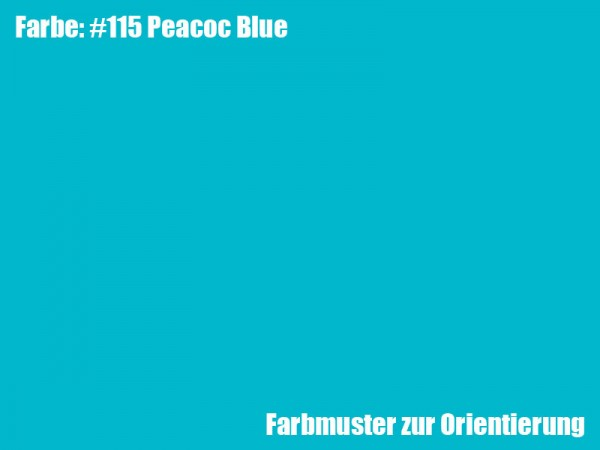 Rosco Farbfolie -Peacoc Blue #115