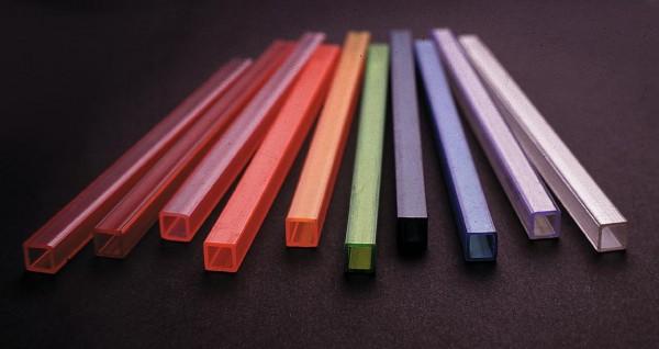 Leer-Rohr, 10x10mm, UV-akt.hellblau, 2m