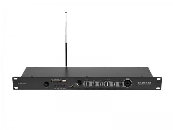 OMNITRONIC EP-220PR Vorverstärker mit MP3-Player und FM-Radio