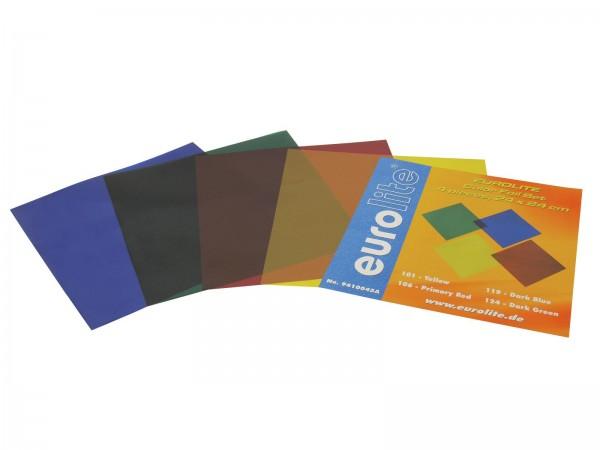 Farbfolienset 24x24cm PAR-64 vier Farben