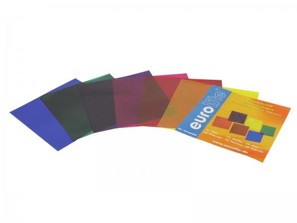 Farbfolienset 19x19cm PAR-56 sechs Farben