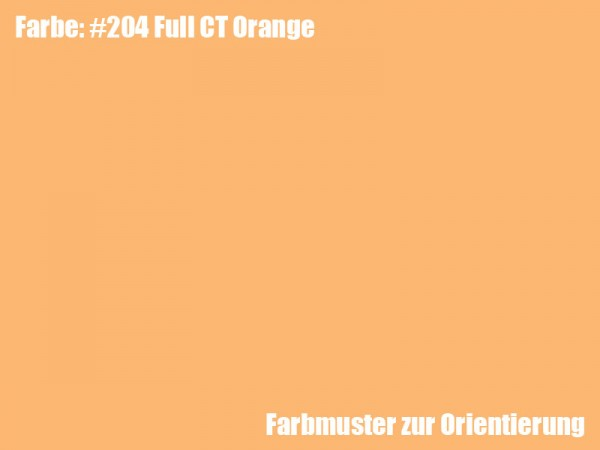 Rosco Farbfolie -Full CT Orange #204