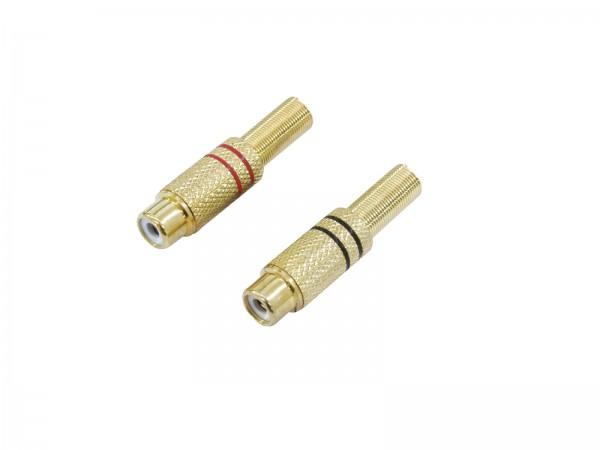 Cinch-Kupplung vergoldet -5,4mm/Paar