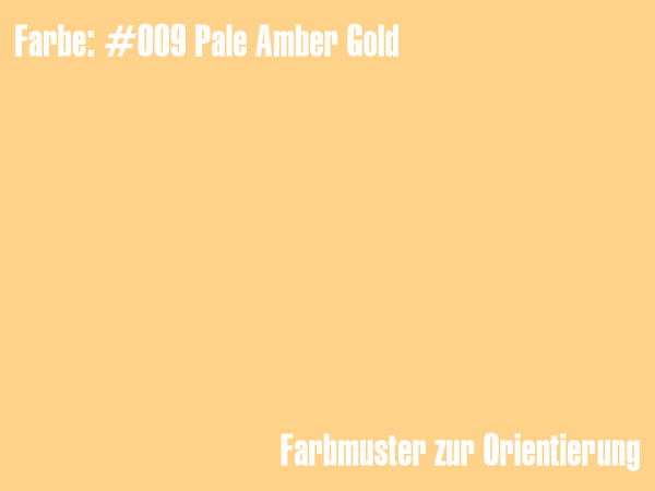 Rosco Farbfolie - Pale Amber Gold #009