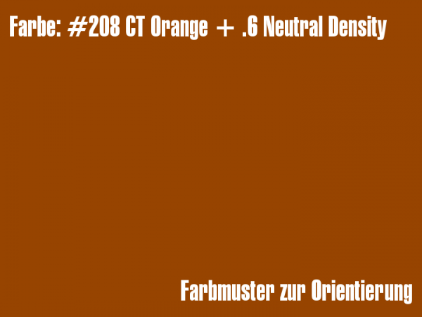 Rosco Farbfolie - CT Orange + .6 Neutral Density #208