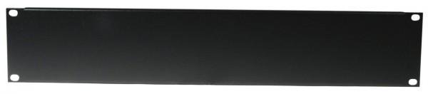 Frontplatte Z-19 U, Stahl, schwarz 2HE