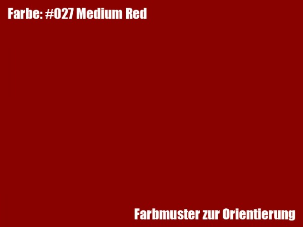 Rosco Farbfolie -Medium Red #027