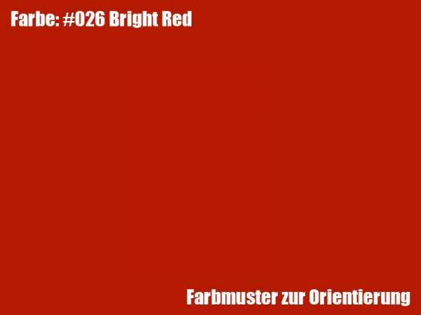 Rosco Farbfolie -Bright Red #026
