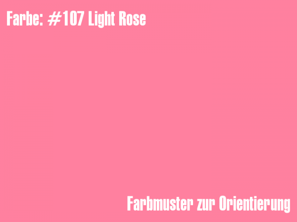 Rosco Farbfolie - Light Rose #107