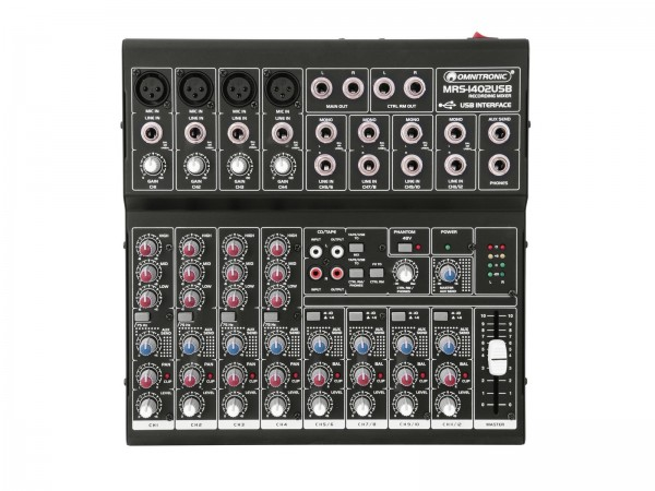Omnitronic MRS-1402USB Recording-Mixer