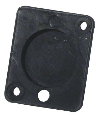 Blindstopfen für XLR, universal, schwarz