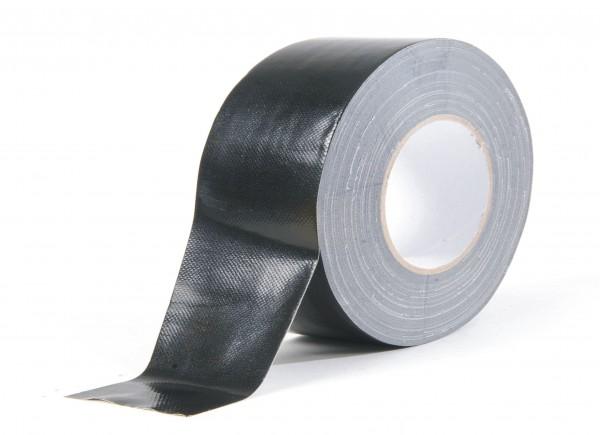 Gewebe-Klebeband schwarz, glänzend 100mm x 50m