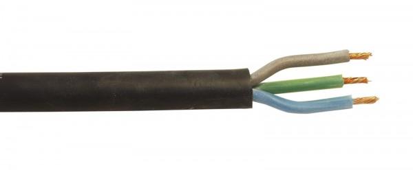 Silikon-Kabel 3x1,5mm² schwarz 100m