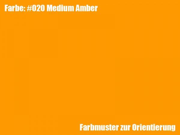 Rosco Farbfolie -Medium Amber #020