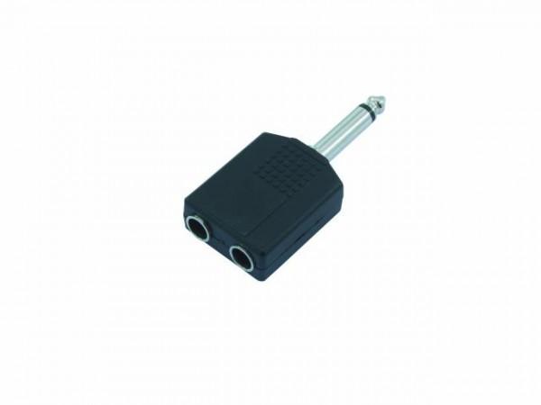 Adapter von 1x 6,35 Klinkenstecker mono auf 2x 6,35 Klinkenbuchse