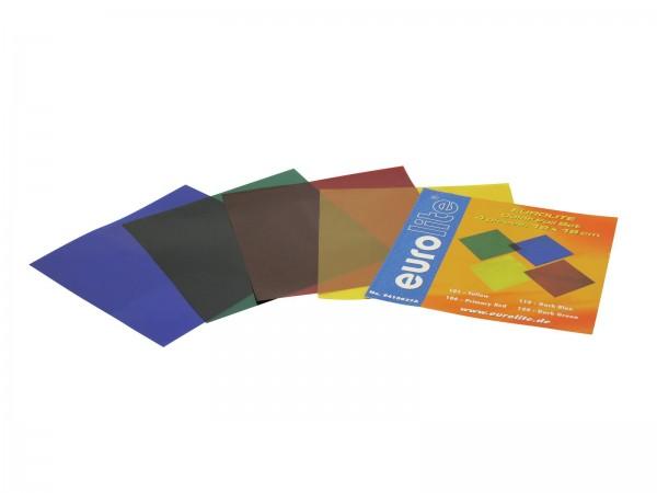 Farbfolienset 19x19cm PAR-56 vier Farben