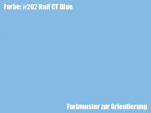 Rosco Farbfolie -Half CT Blue #202