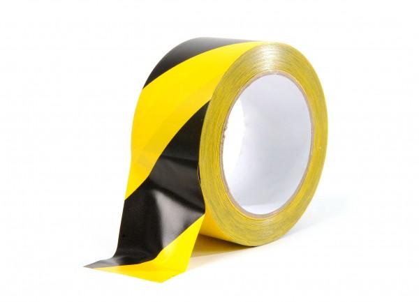 Warnband - Weich-PVC 50mm x 33m Schwarz/Gelb